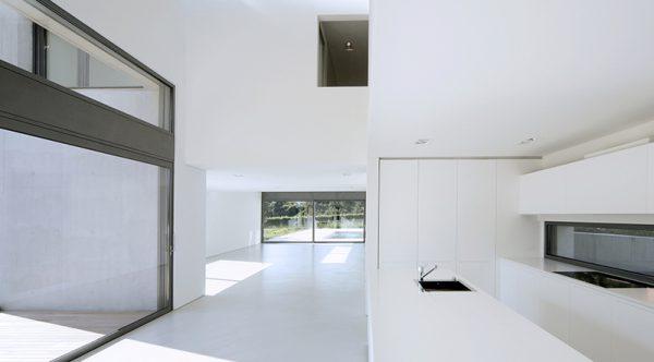 interior, modern house, nobody inside, big empty space